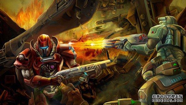 科幻风格MMORPG  《2029 Online》游戏海报赏